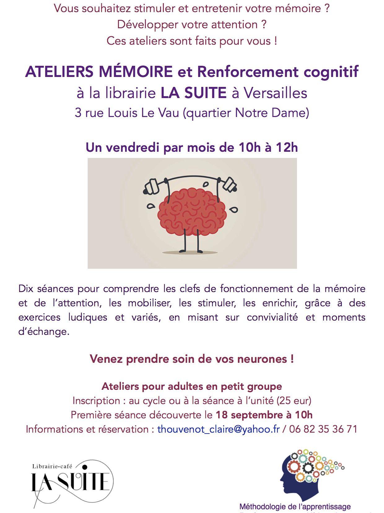 Ateliers Mémoire et Renforcement cognitif