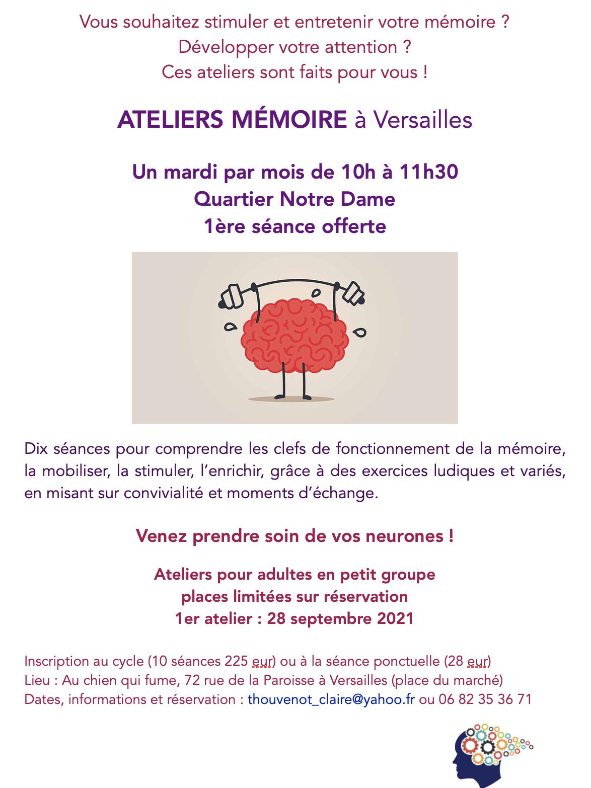 Ateliers Mémoire à Versailles Notre-Dame