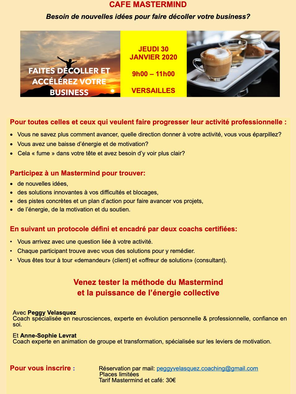 Café Mastermind à Versailles