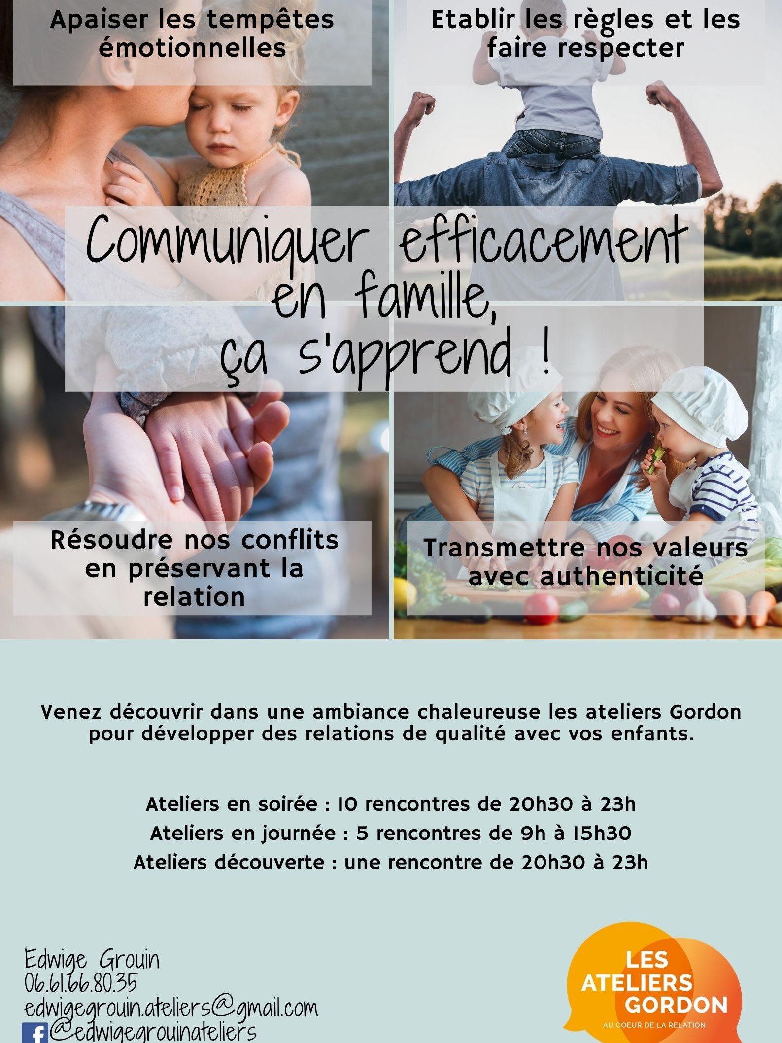 """Ateliers Parents """"Mieux communiquer en famille"""""""