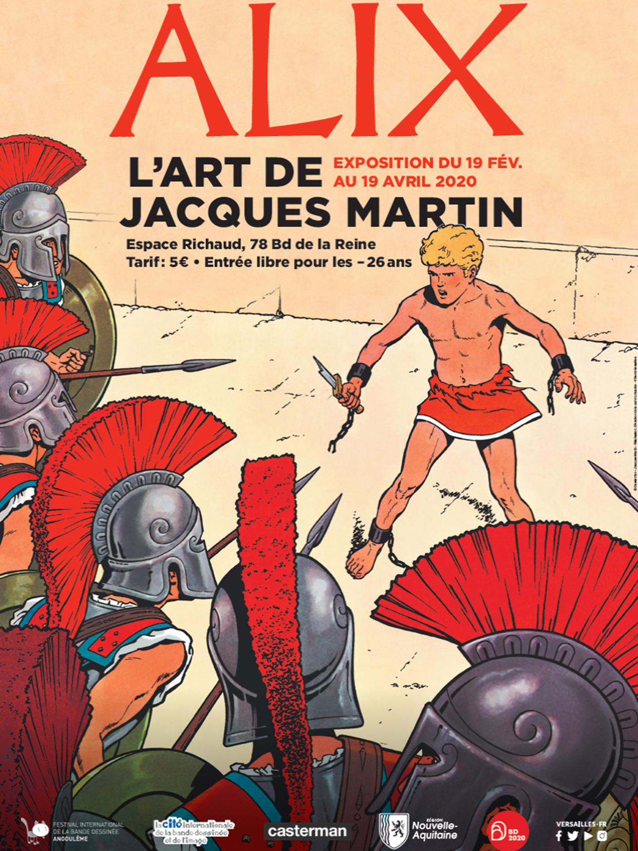 Rétrospective Alix, l'art de Jacques Martin à Versailles