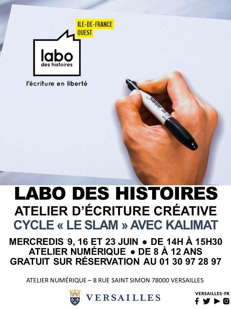 Atelier d'écriture avec Le Labo des Histoires