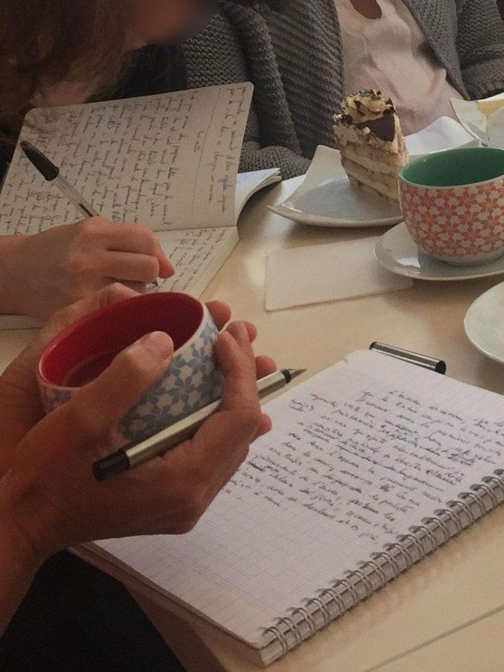Atelier d'écriture en visioconférence, spécial confinement