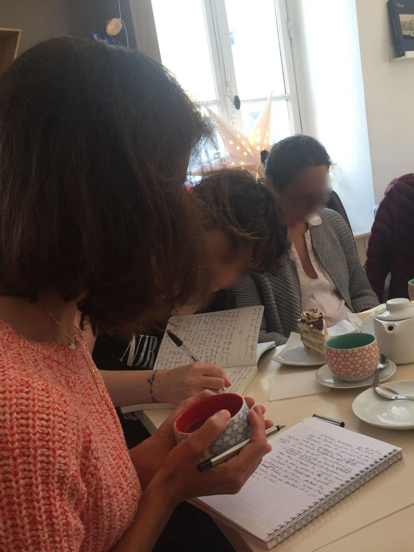 Atelier d'écriture pour adultes à la librairie-salon de thé La Suite à Versailles