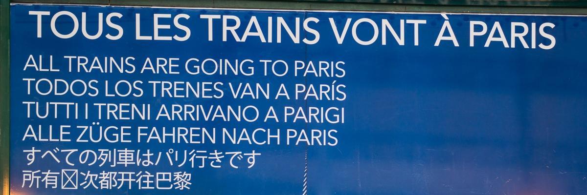 De Versailles RD et RG, tousles trains vont à Paris de Versailles ! © AnnaClick