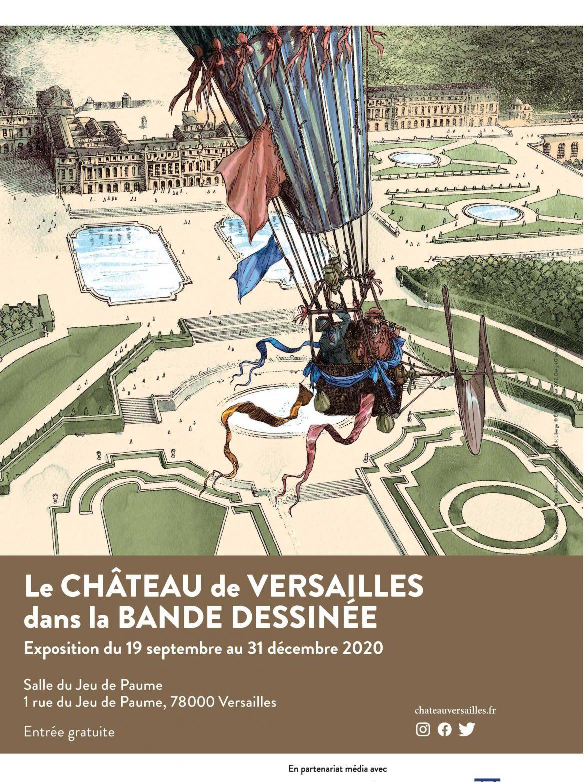 Le château de Versailles dans la BD