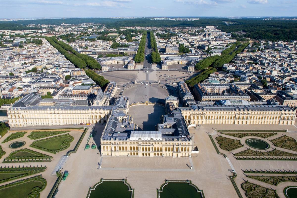 Vue Aérienne du domaine de Versailles ©Toucanwings_CreatieCommons By SA